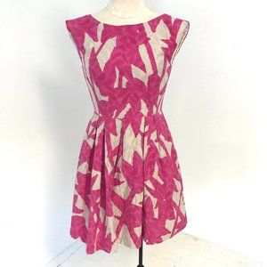 Shoshanna 4 Floral Print Sundress Pink & Cream